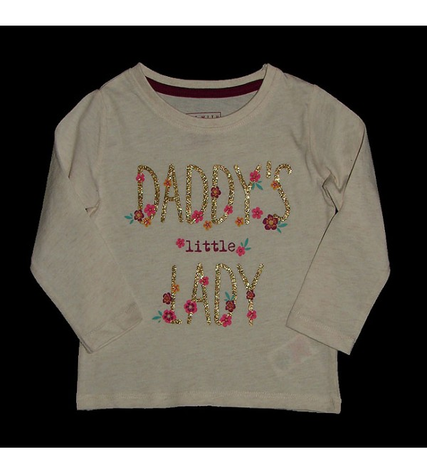 Baby Girls Long Sleeve Glitter Printed T Shirts