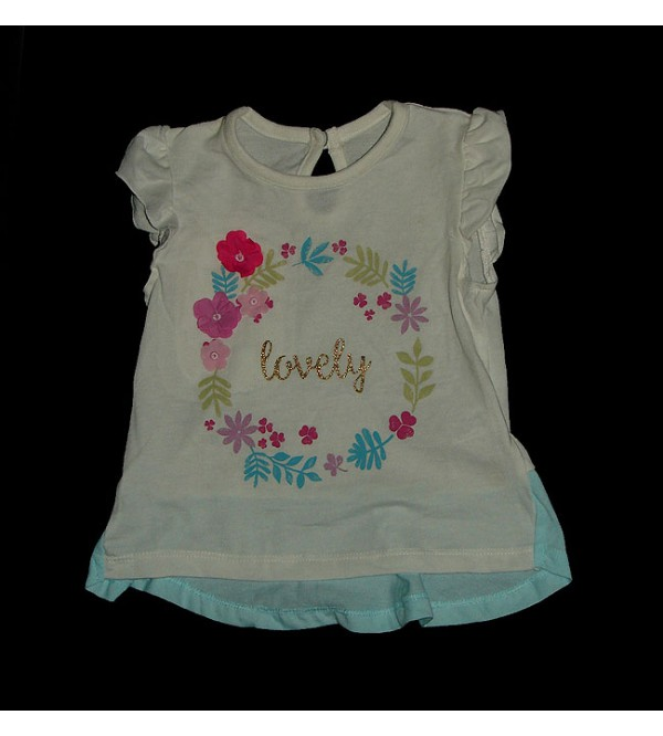 Baby Girls Floral Applique Top