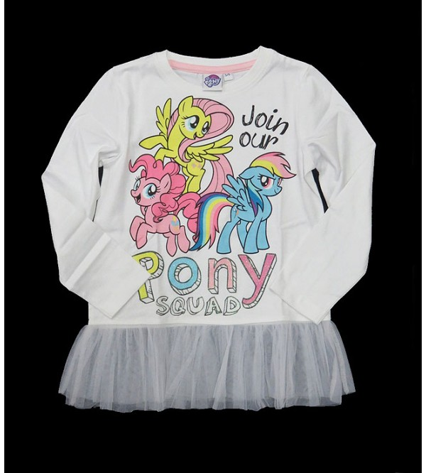 my LiTTLE PONY Girls Printed Fancy T Shirt With Mesh Trims