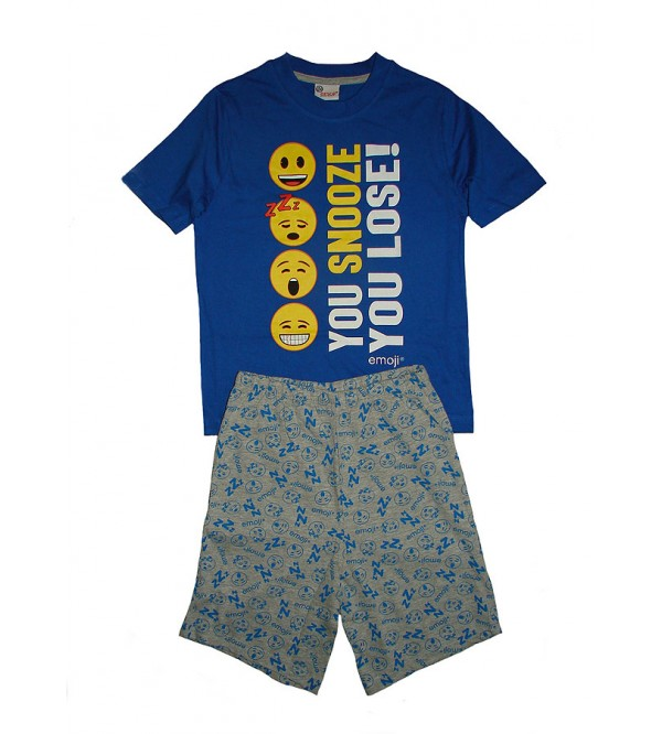 emoji Printed Boys Shorty Pyjama Set