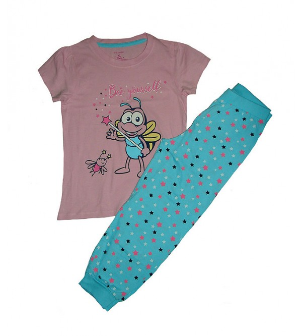Girls Printed Pyjama Set