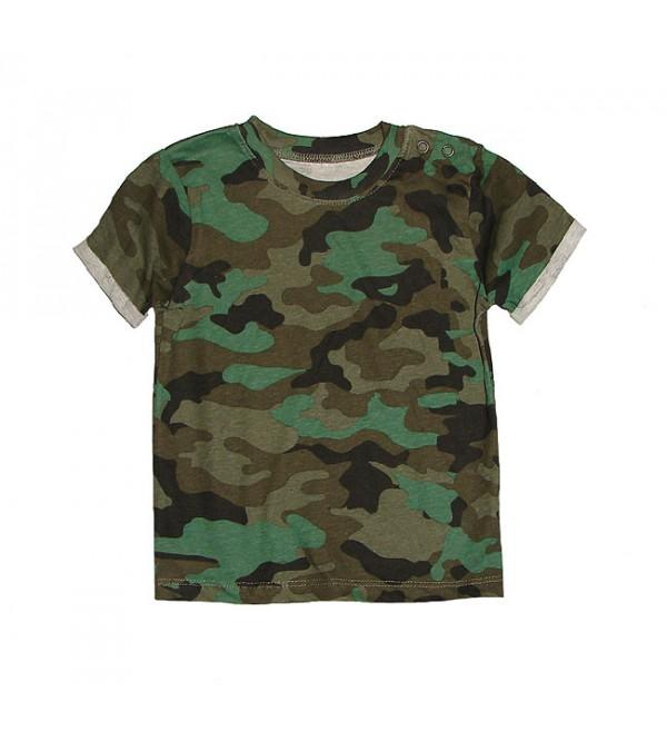 Camo Print Boys T Shirt