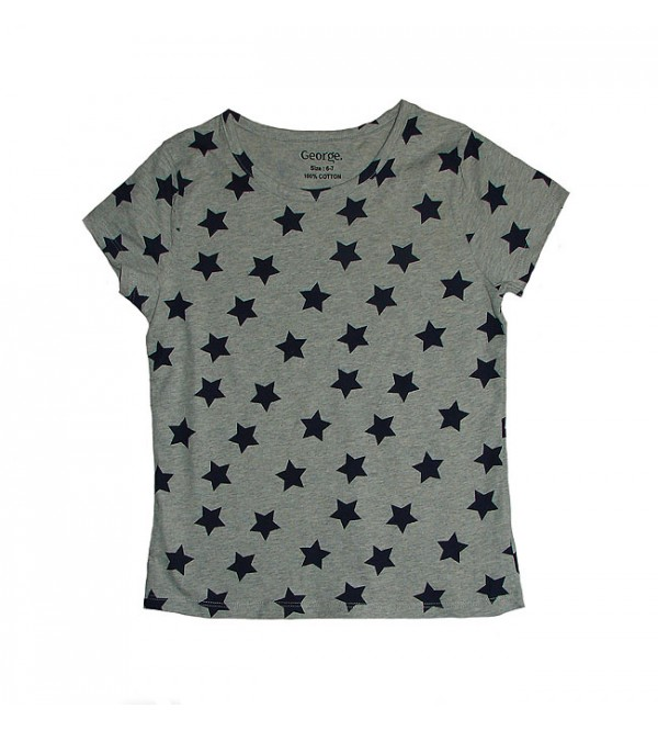 Girls Allover Star Print T-Shirt