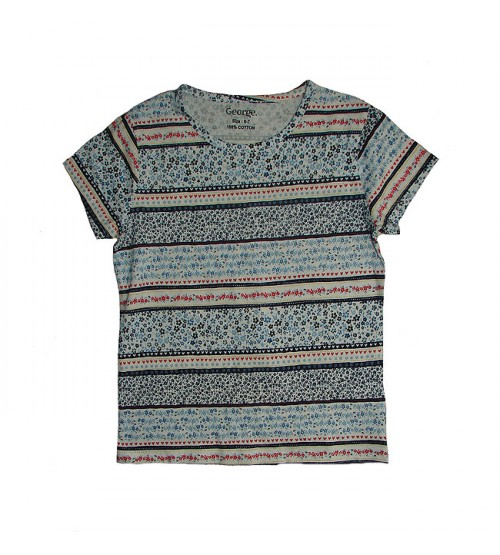 Girls Short Sleeve All Over Printed T Shirt