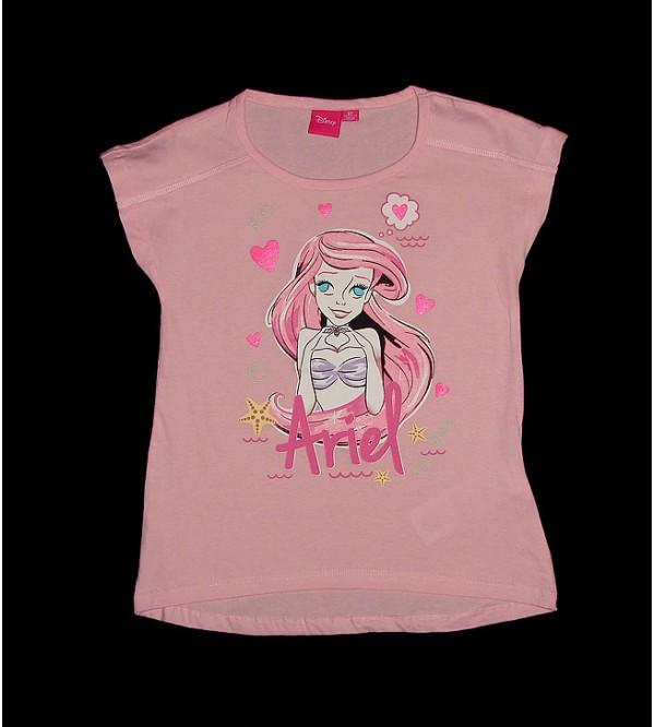 DiSNEY PRINCESS  Girls Glitter Printed T Shirt