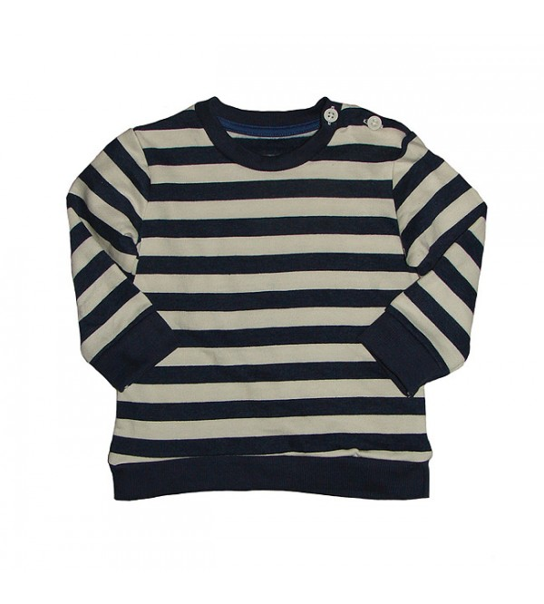 Baby Boys Striped Pullover Sweatshirt