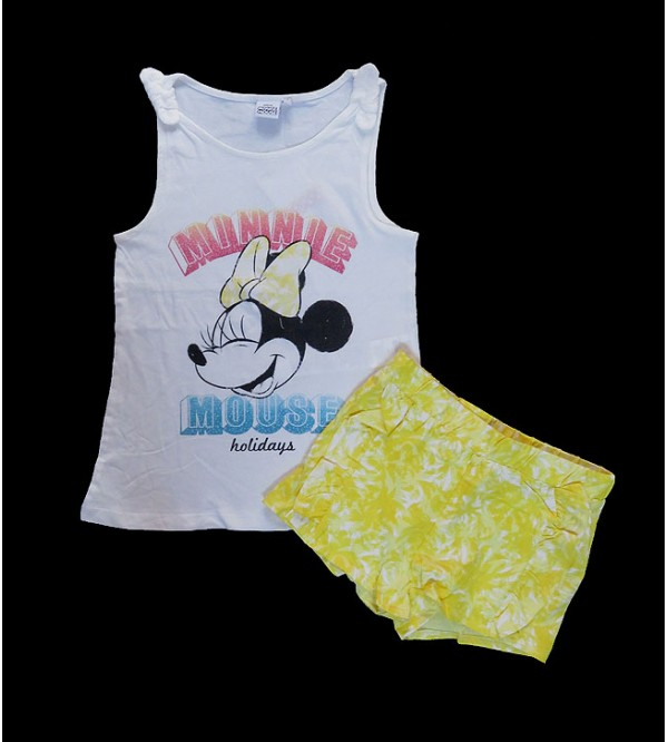 DiSNEY Girls Printed Shorty Pyjama Sets
