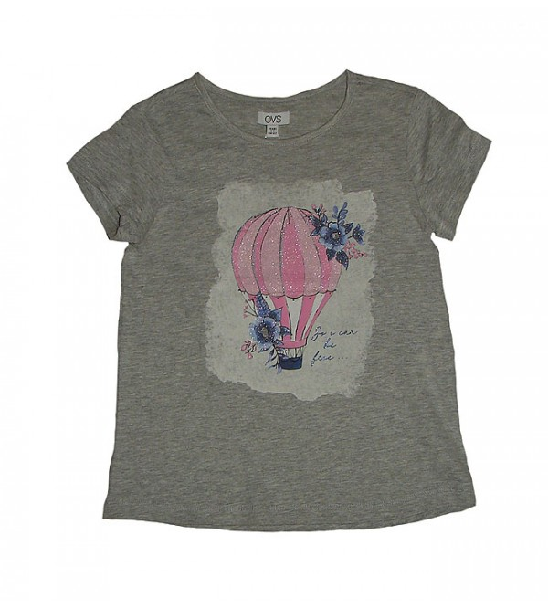 Older Girls Short Sleeve Glitter Printed T Shirt