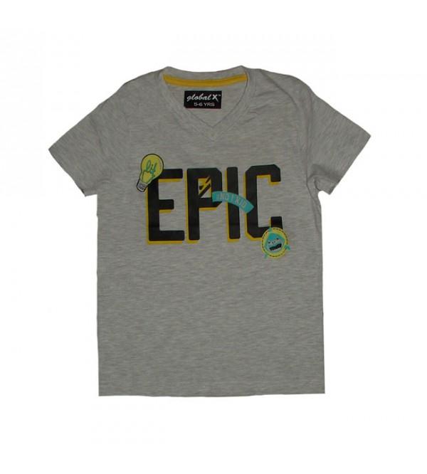 Boys Short Sleeve Printed T Shirt