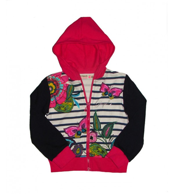 Girls Glitter Print Hooded Sweatshirt