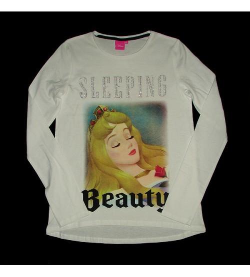DiSNEY Sleeping Beauty Girls Glitter Printed T Shirt