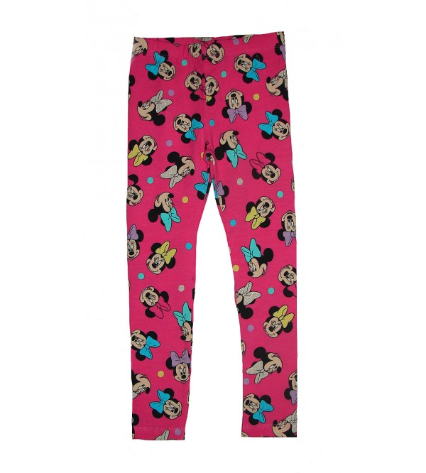 MINNIE MOUSE Girls Glitter Printed Stretch Leggings