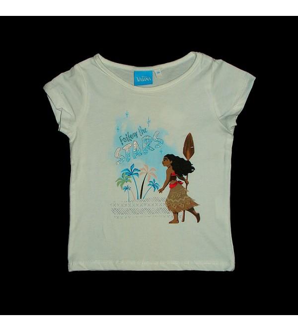 DiSNEY Vaiana Girls Glitter Printed T Shirt