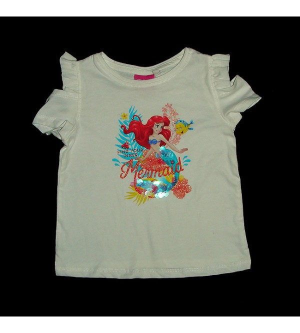 DiSNEY  Girls Glitter Printed T Shirt