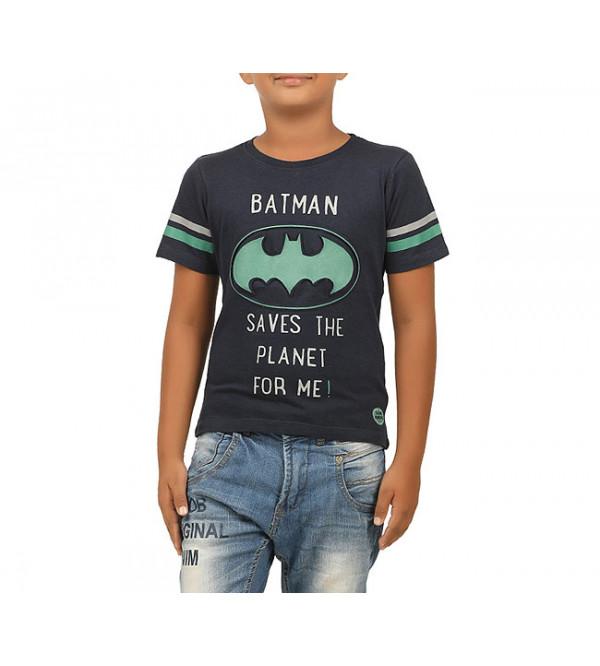 Batman Boys Applique T Shirt