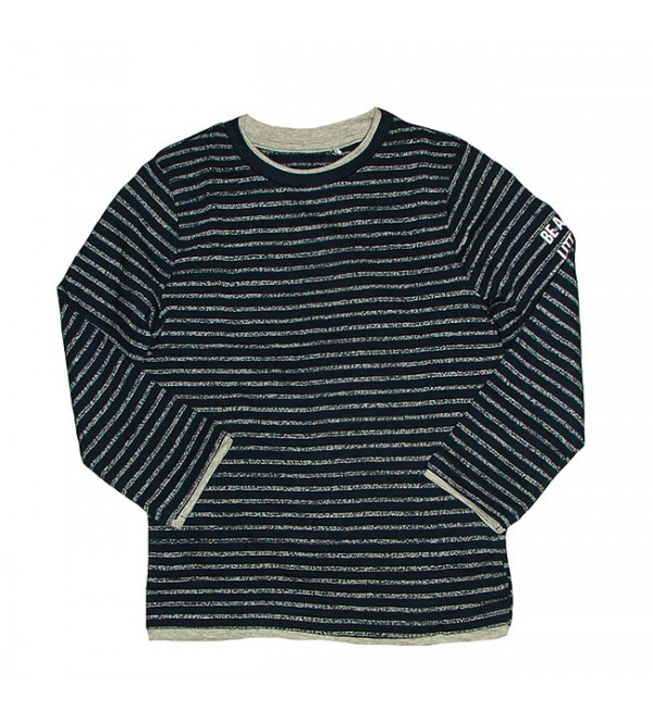 Boys Long Sleeve Striped Winter T Shirt