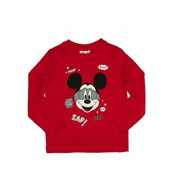 Mickey Mouse Boys Long Sleeve Printed T Shirt