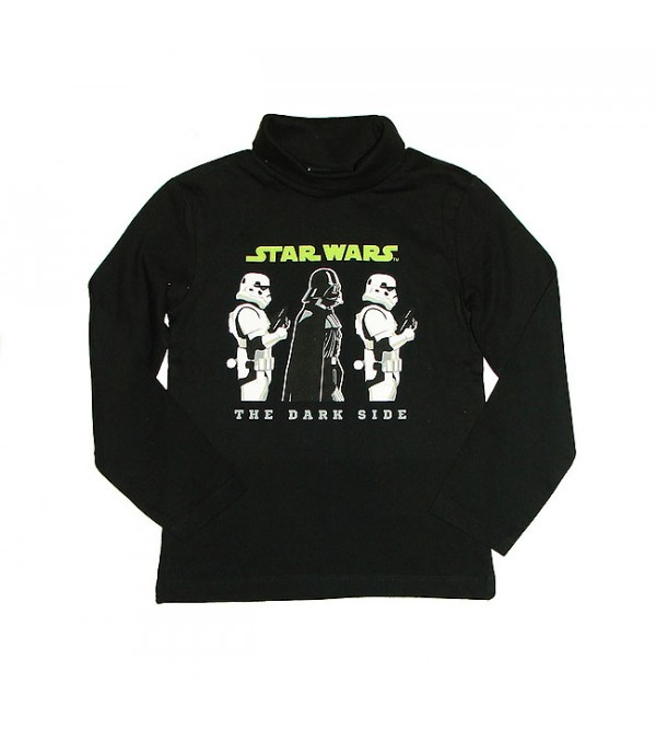 STAR WARS Boys Turtle Neck Printed Long Sleeve T Shirt