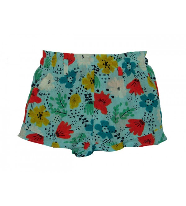 Girls Printed Viscose Woven Shorts