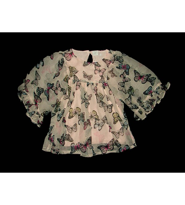 Girls Printed Crepe Woven Blouse