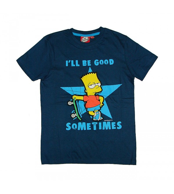 The Simpsons Printed Boys Short Sleeve T Shirt