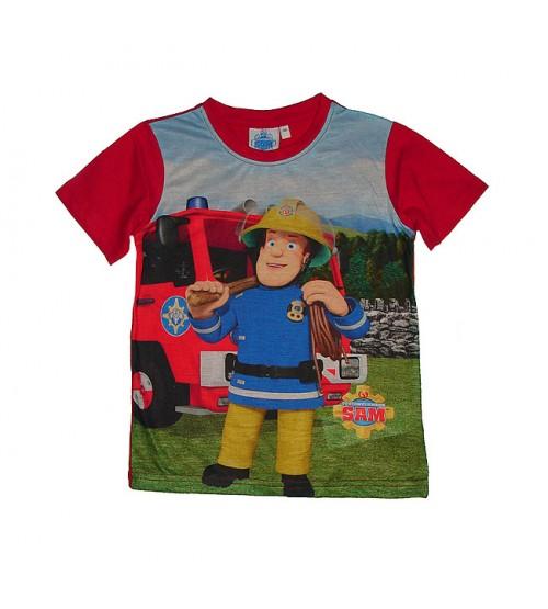 Fireman Sam Boys Sublimation Printed  Short Sleeve T Shirt
