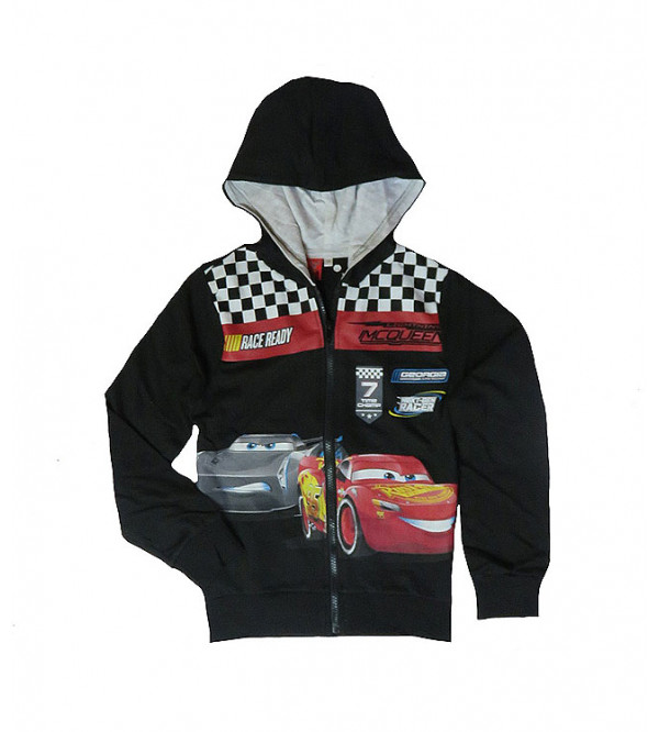 Cars Boys Printed Pullover Sweatshirts With Hoodie