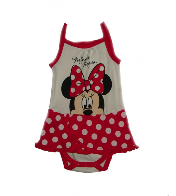 Minnie Mouse Baby Girls Bodysuit Dress