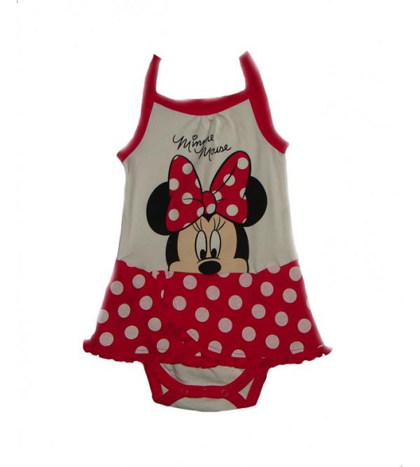 Minnie Mouse Baby Girls Bodysuit Dress
