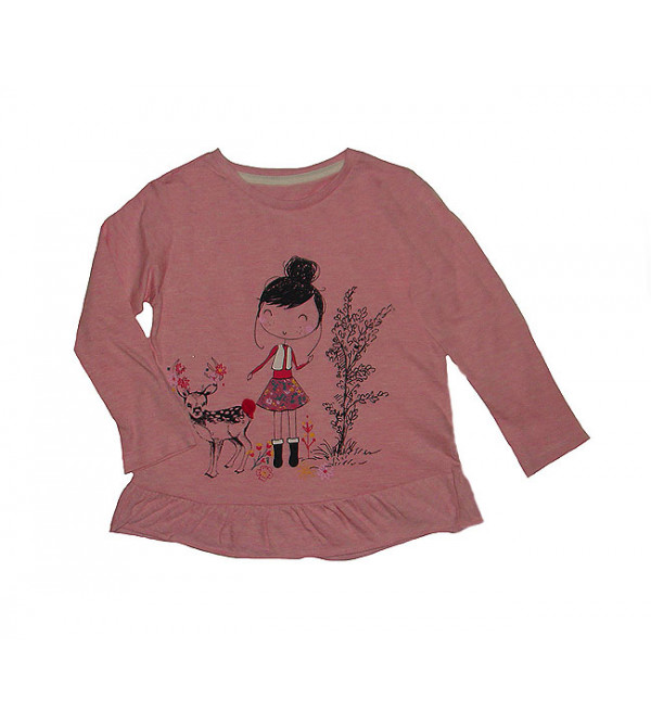 Girls Printed Long T Shirt