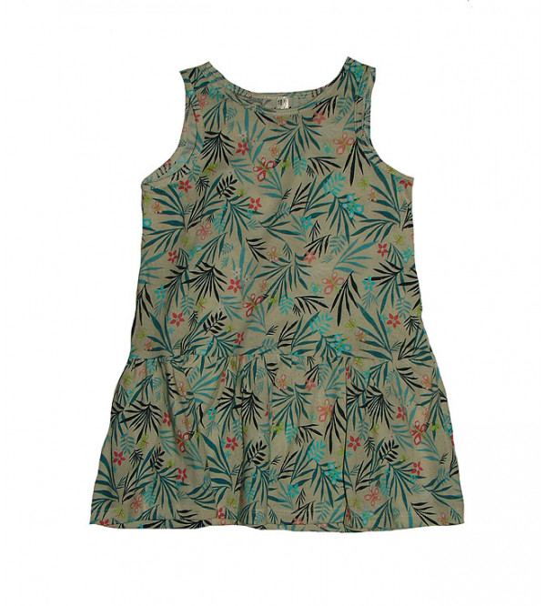 Baby girls all over printed knit dress
