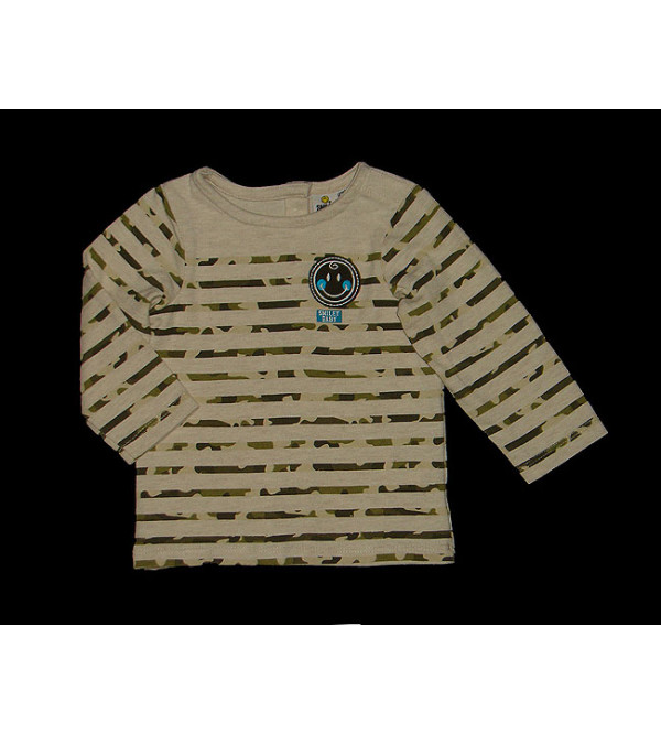 Baby Boys Smiley Applique Winter T Shirt