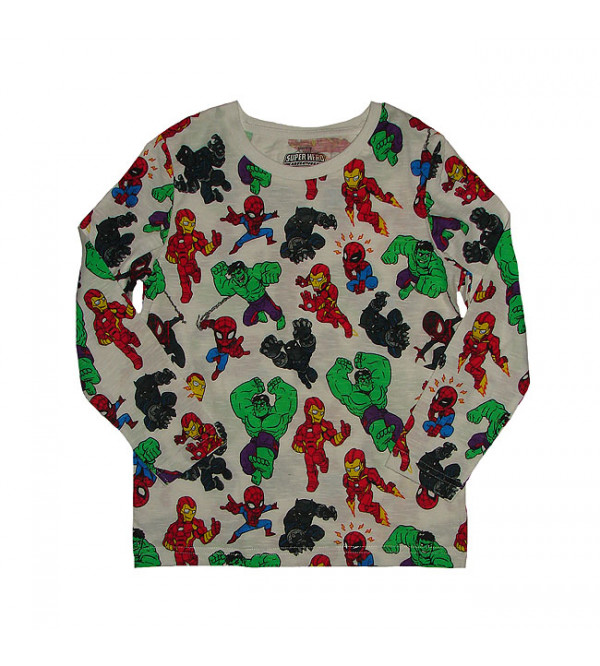 Marvel Character Printed Boys T Shirt