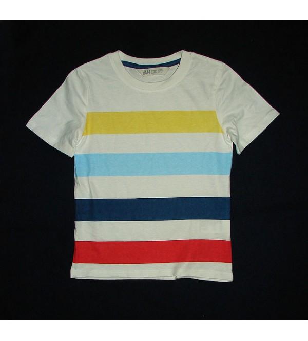 H&M Multi Striped Boys T Shirt