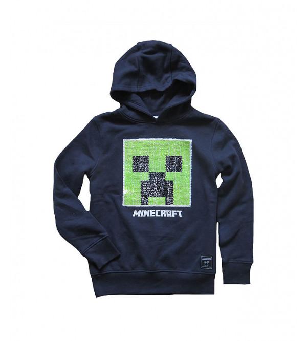 MINE CRAFT Boys Pullover Sweatshirt With Sequins