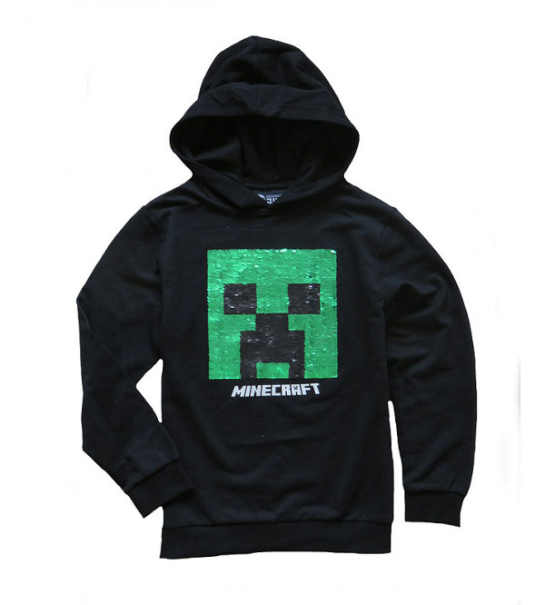 MINE CRAFT Boys Pullover Sweatshirt With Sequins