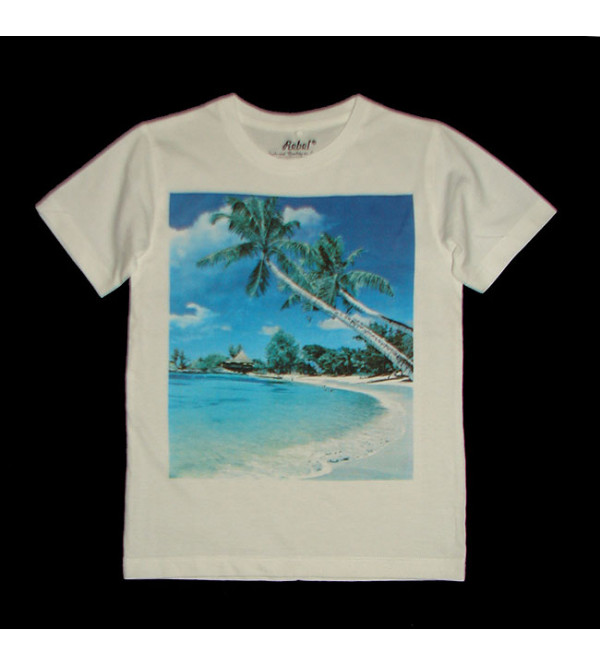 Beach Print Boys T-Shirt