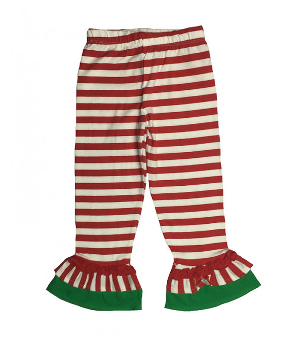 Girls Striped Leggings With Frill