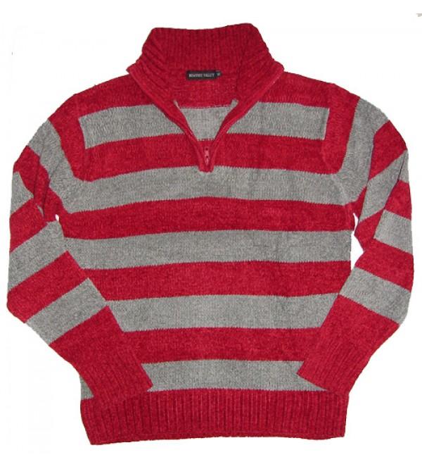 Mens Chenile Half Zipper Sweater