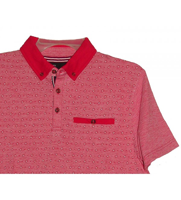 Mens Fashion Jacquard Polo
