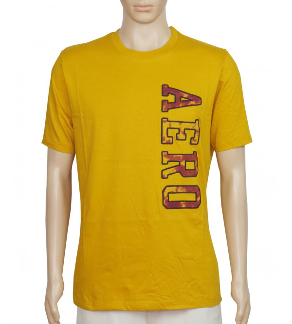 Aeropostale Men's Printed T Shirt With Applique