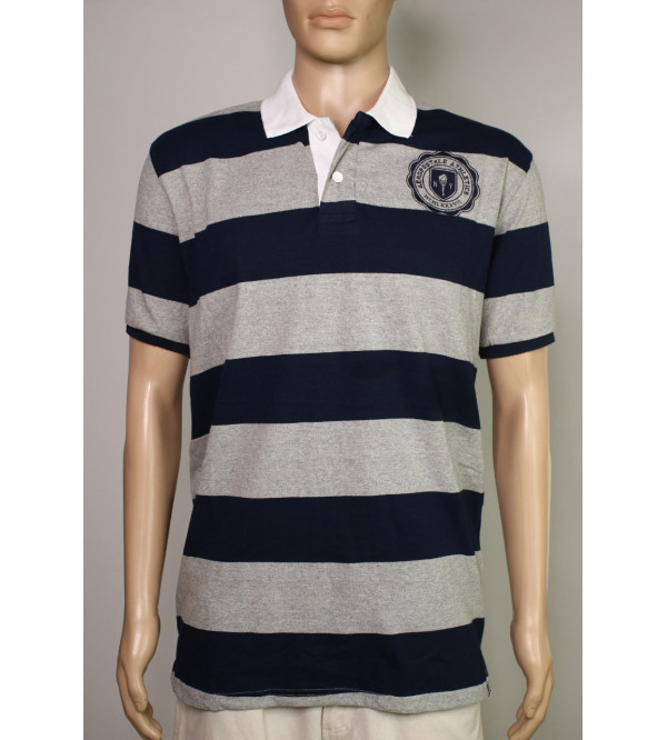 Aeropostale Mens Striped Polos With Applique