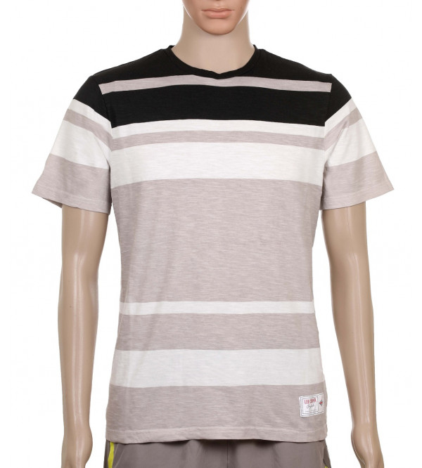 Lee Cooper Mens Striped T Shirt