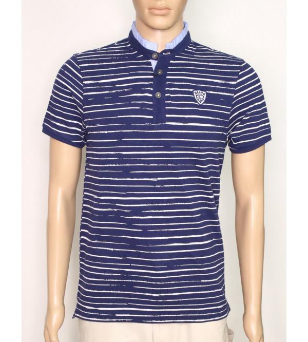 Being Human Mens Mandarin Collar T Shirt