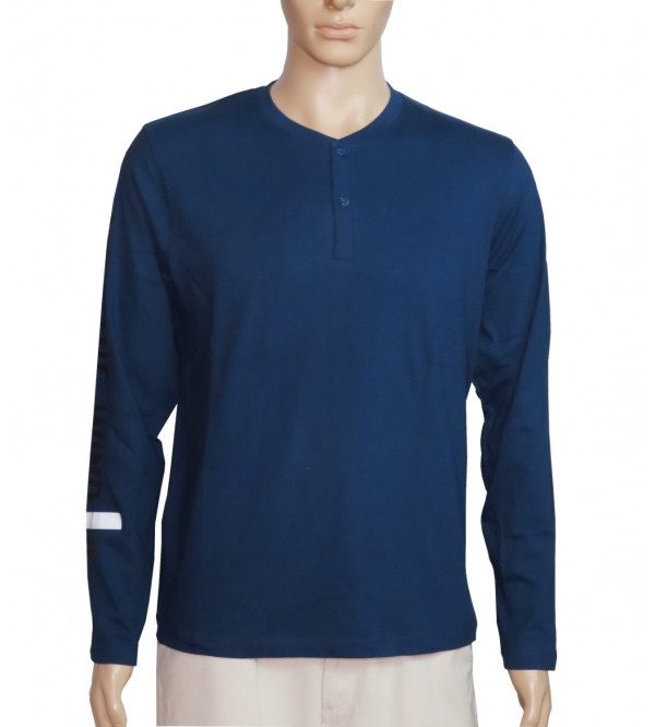 Junior Mens Long Sleeve Henley T Shirts