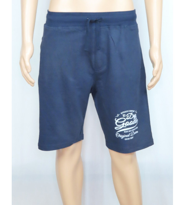 Mens Printed French Terry Knit Shorts