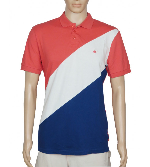Mens Cut n Sew Collar T Shirt