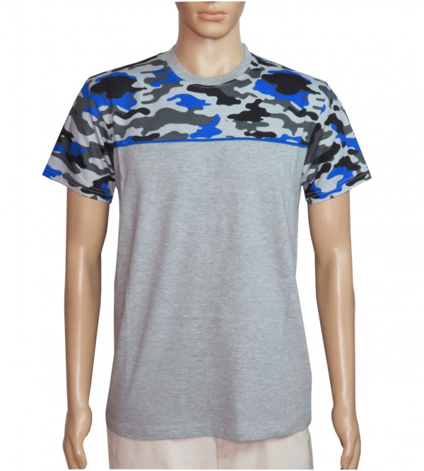Camo Printed Mens Cut n Sew T Shirt