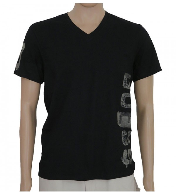 Mens Short Sleeve  V Neck Printed T Shirt