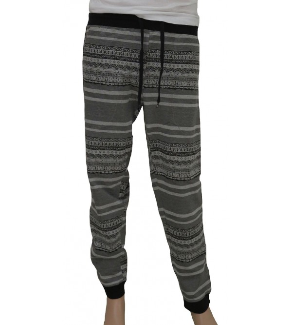 Mens Knit Printed Joggers